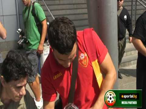 Montenegro national team arrival on Sofia Airport on 04.09.2009