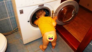 When Troubled Baby Doing Housework  Funny and Fails 2020