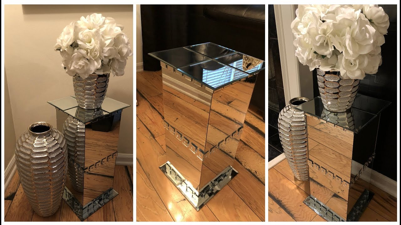 Dollar Tree Diy Mirrored Pedestal End Tables Youtube