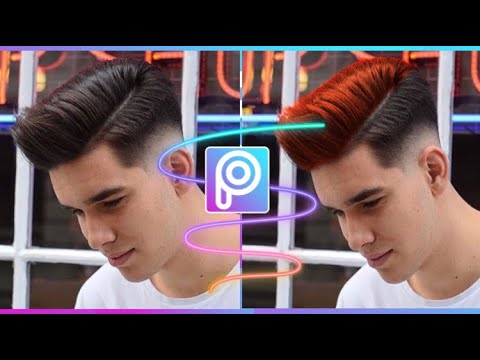 How to Edit | Style | Hair Colour from Pics Art | mobile