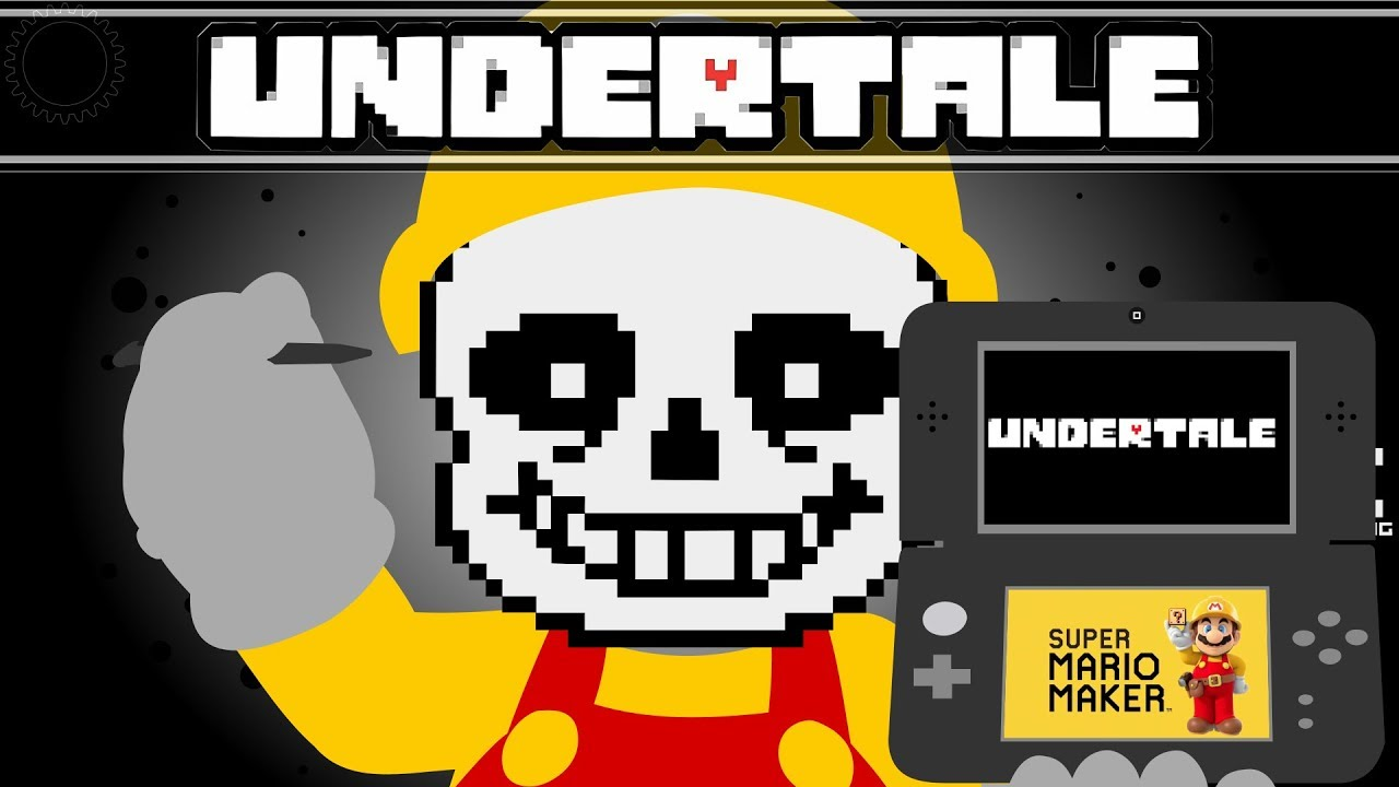 Undertales Combat System Recreated in Super Mario Maker