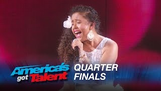 Alondra Santos: 13-Year-Old Spanish Singer Performs Classic Selena Hit - America's Got Talent 2015