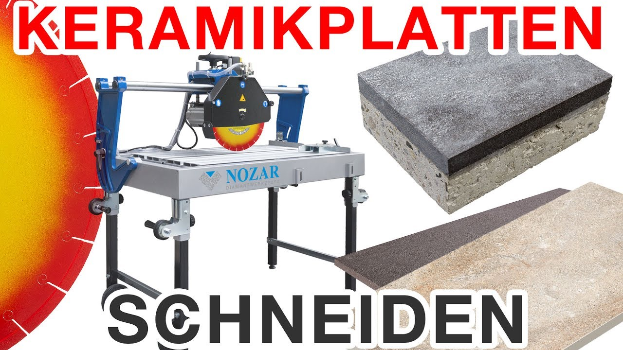keramikplatten / terrassenplatten schneiden - profi lösung - gres