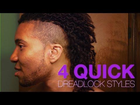 4 QUICK DREADLOCK STYLES Short To Medium Length Locs