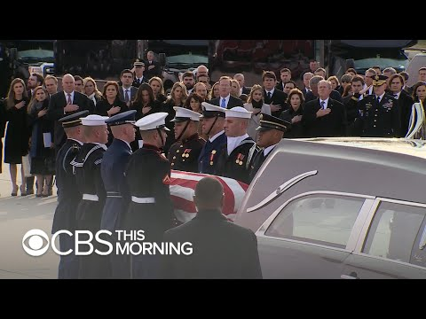 Final farewell as President George H.W. Bush returns home to Houston
