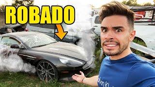 ROBAN EL AUTO ACCIDENTADO DE MI AMIGO 😰 | CEMENTERIO DE AUTOS 🚘