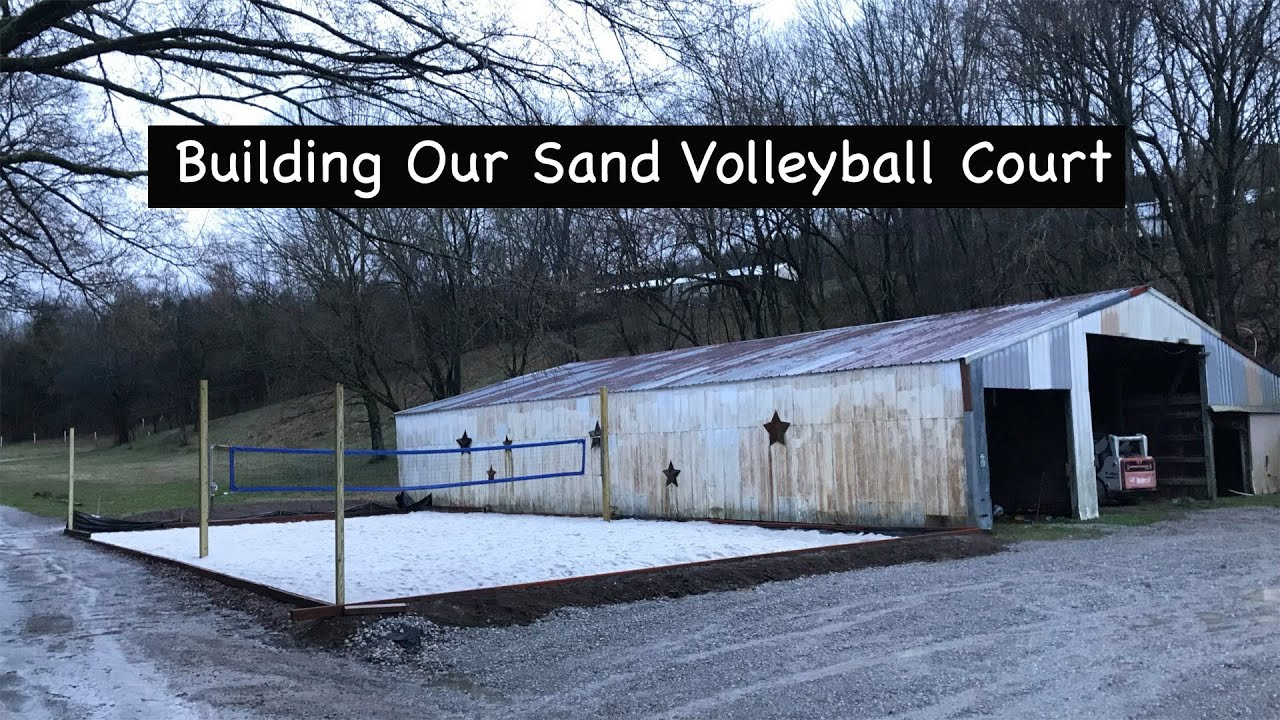 Building A Sand Beach Volleyball Court In Your Backyard ...
