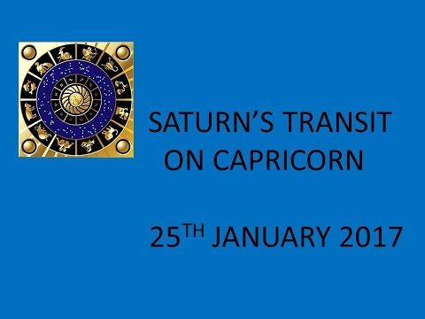 Saturn's Transit On Capricorn  The Impact on Health, Finance, Love,  Property and Family  Jan 2017