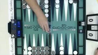 Backgammon Olympiad -- Ray Fogerlund vs. Neil Kazaross -- 1pts -- 2 Matches