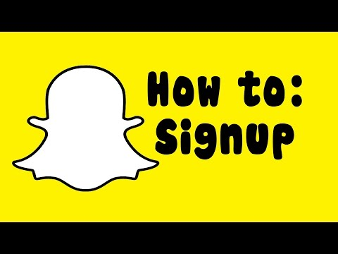 How to Sign Up For a Snapchat account on Android!