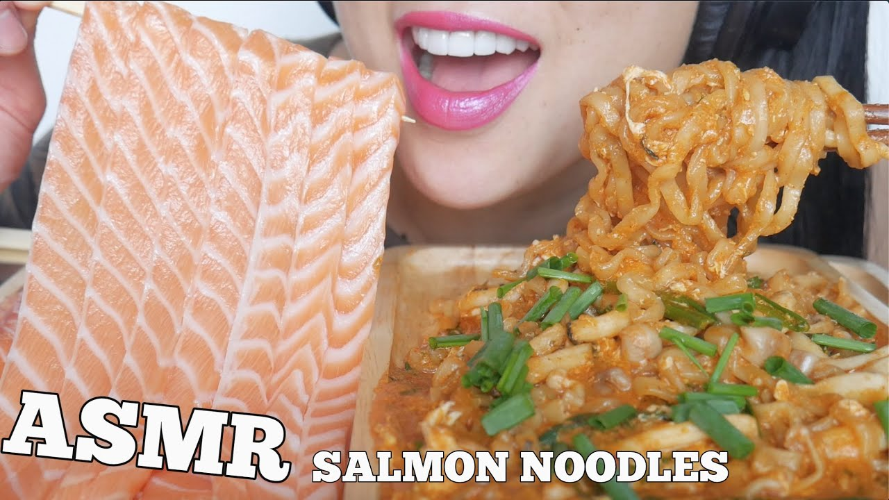 Asmr Salmon Noodles Spicy Noodles Satisfying Eating Sounds No Talking Sas Asmr Youtube To make ends meet in canada, she worked as a her most popular videos are 'asmr honeycomb (extremely sticky satisfying eating sounds) no talking' with a whopping 26 million views and 'asmr salmon. asmr salmon noodles spicy noodles satisfying eating sounds no talking sas asmr