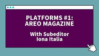 Platforms #1, Areo Magazine: F…