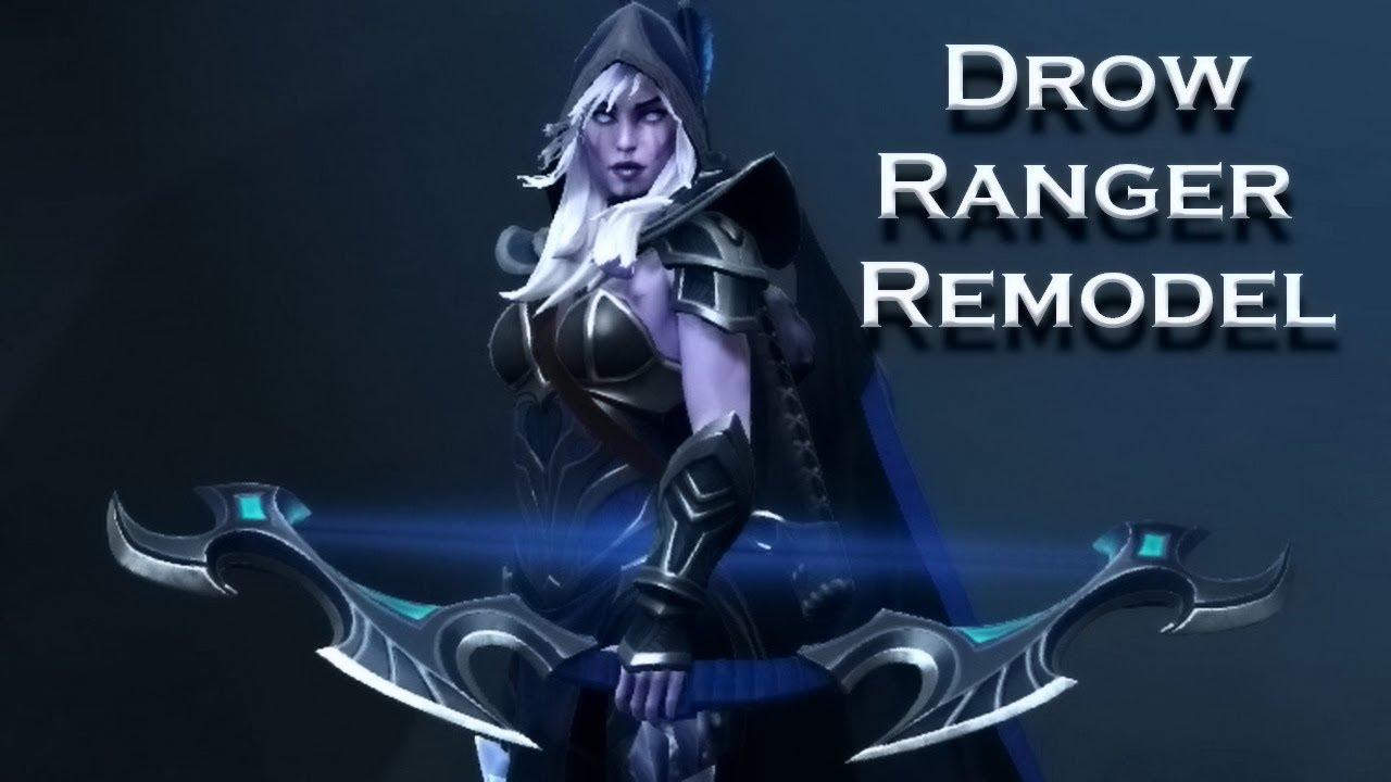 Dota 2 Drow Ranger Remodel New Youtube