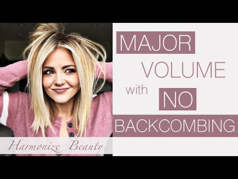 How to get MAJOR volume with NO backcombing! - Harmonize_Beauty