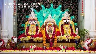 Shringar Arati Darshan SriSri Jagannath Baladev Subhadra Mayii 12th August 2020 from ISKCON Bhiwandi