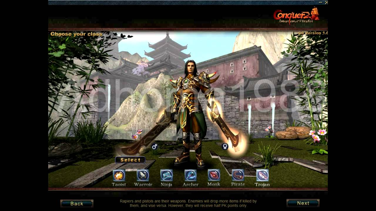 conquer online new 3d character selection by adhoma1988