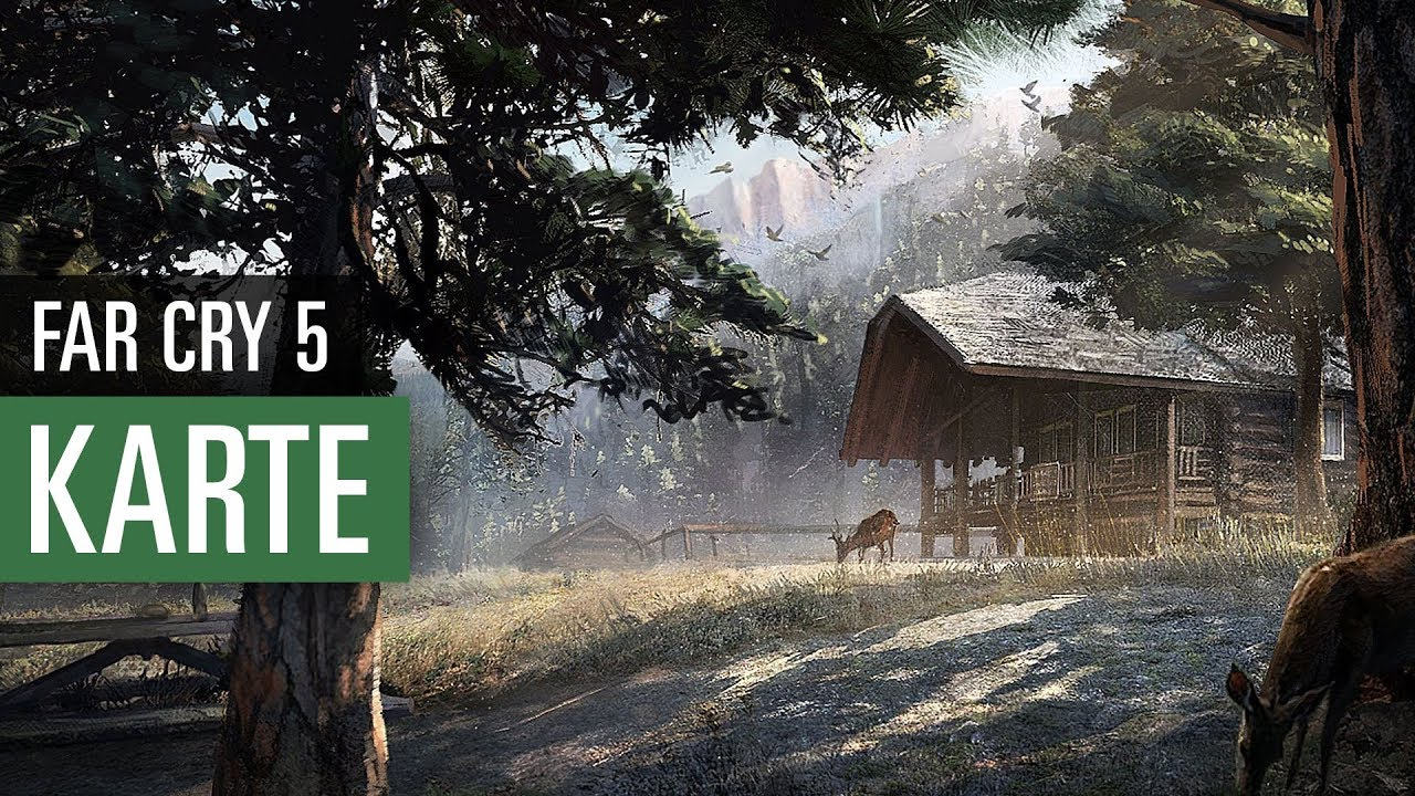 far cry 5 karte Far Cry 5: Wir zeigen die Map des Abenteuers!   YouTube