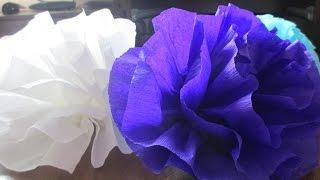 Большие цветы из гофрированной бумаги ღ SH ღ(, 2016-09-18T14:17:16.000Z)