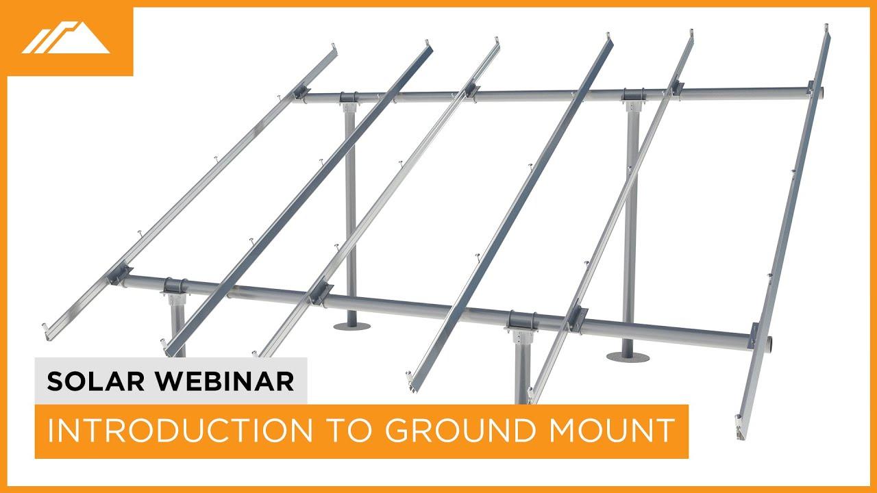Introduction to IronRidge Ground Mount - YouTube