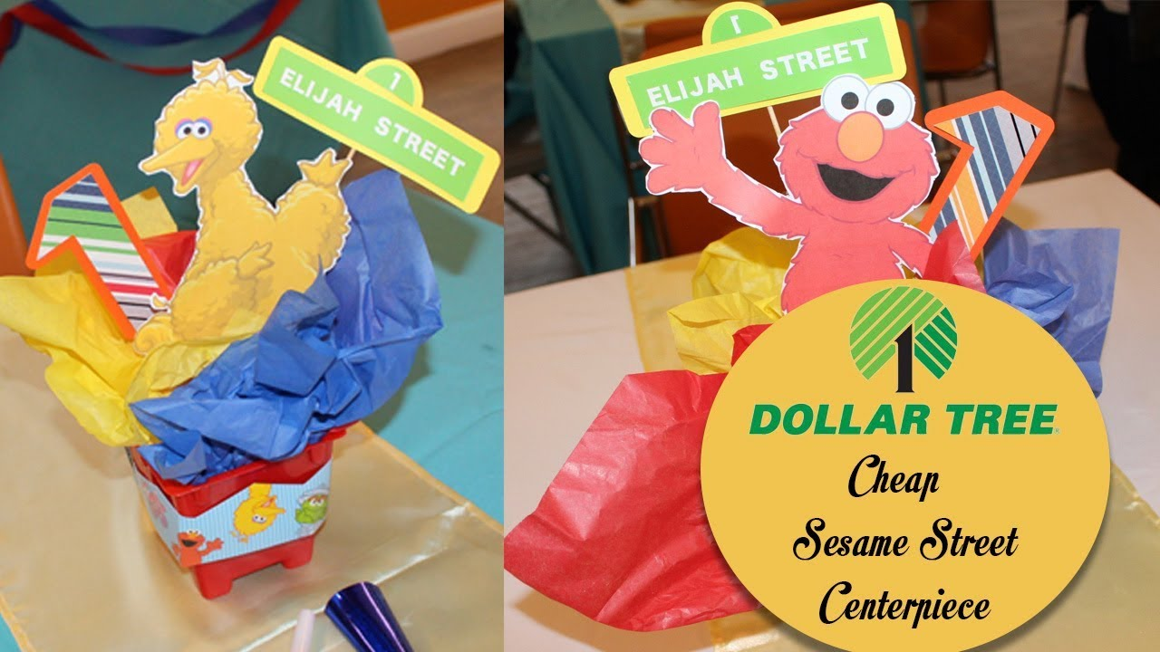 Sesame Street Centerpiece Kids Party Dollar Tree Ideas 1st Rh Youtube Com Birthday Centerpieces DYI