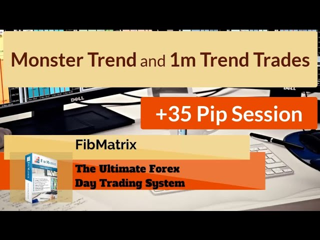 +35 Pips Live Forex Trading Room Session! Monster Trade and 1m Trend FibMatrix Trading Software