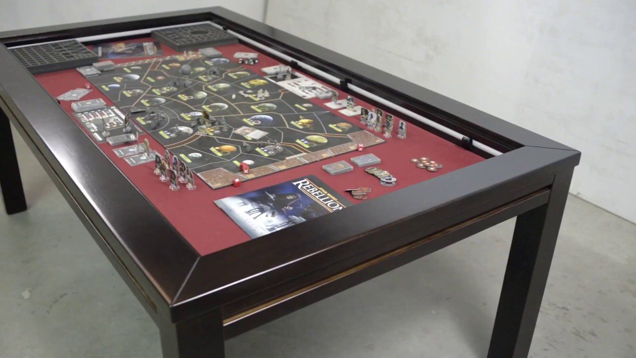 Mesa Zeus: mejores mesas para juegos / best board game tables - YouTube