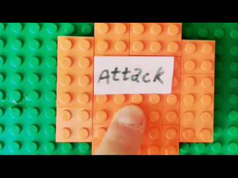 Lego Clash of clans attack/stop motion