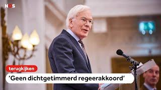 TERUGKIJKEN: Informateur Tjeenk Willink: geen dichtgetimmerd regeerakkoord