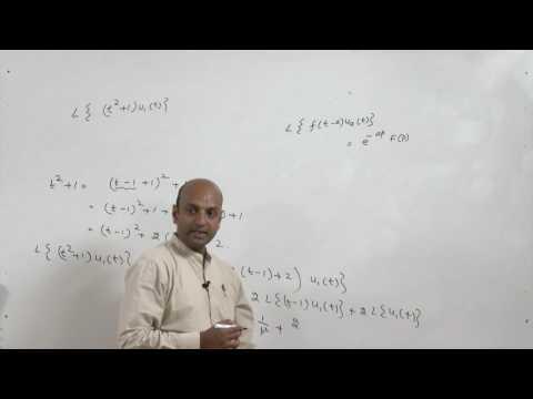 Lecture 34-Laplace Transforms of Unit Step Function
