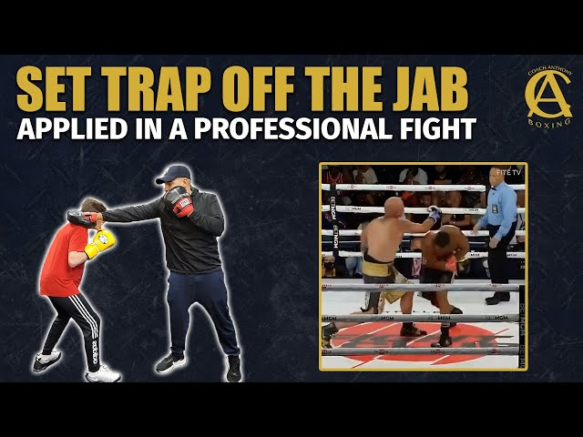 How to set a Trap off the Jab off the jab Applied in a Pro Boxing Fight! #Shorts