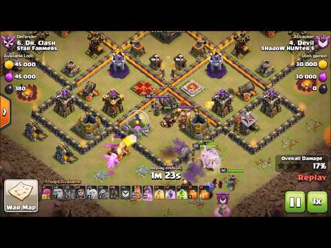 GOHO Attack Th10 Strategy | Best 3 Star Attack Clash of