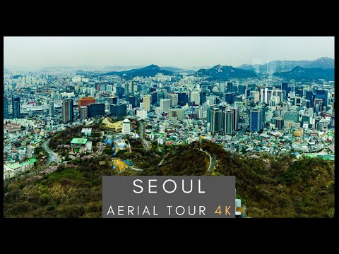 Downtown Seoul - 4K AERIAL DRONE  (서울)