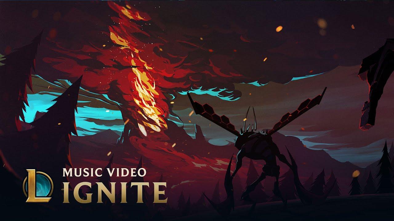 Fire Wallpaper Hd Zedd Ignite Worlds 2016 League Of Legends Youtube