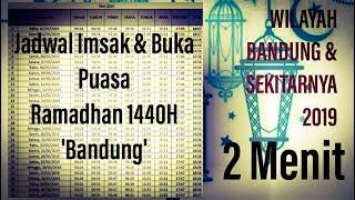 Gambar cover Jadwal Imsak Berbuka Puasa 2019 Bandung Sekitarnya ; Ramadhan 1440H