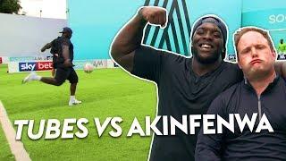 Akinfenwa goes BEAST MODE in Volley Challenge 💪 | Tubes vs Bayo Akinfenwa