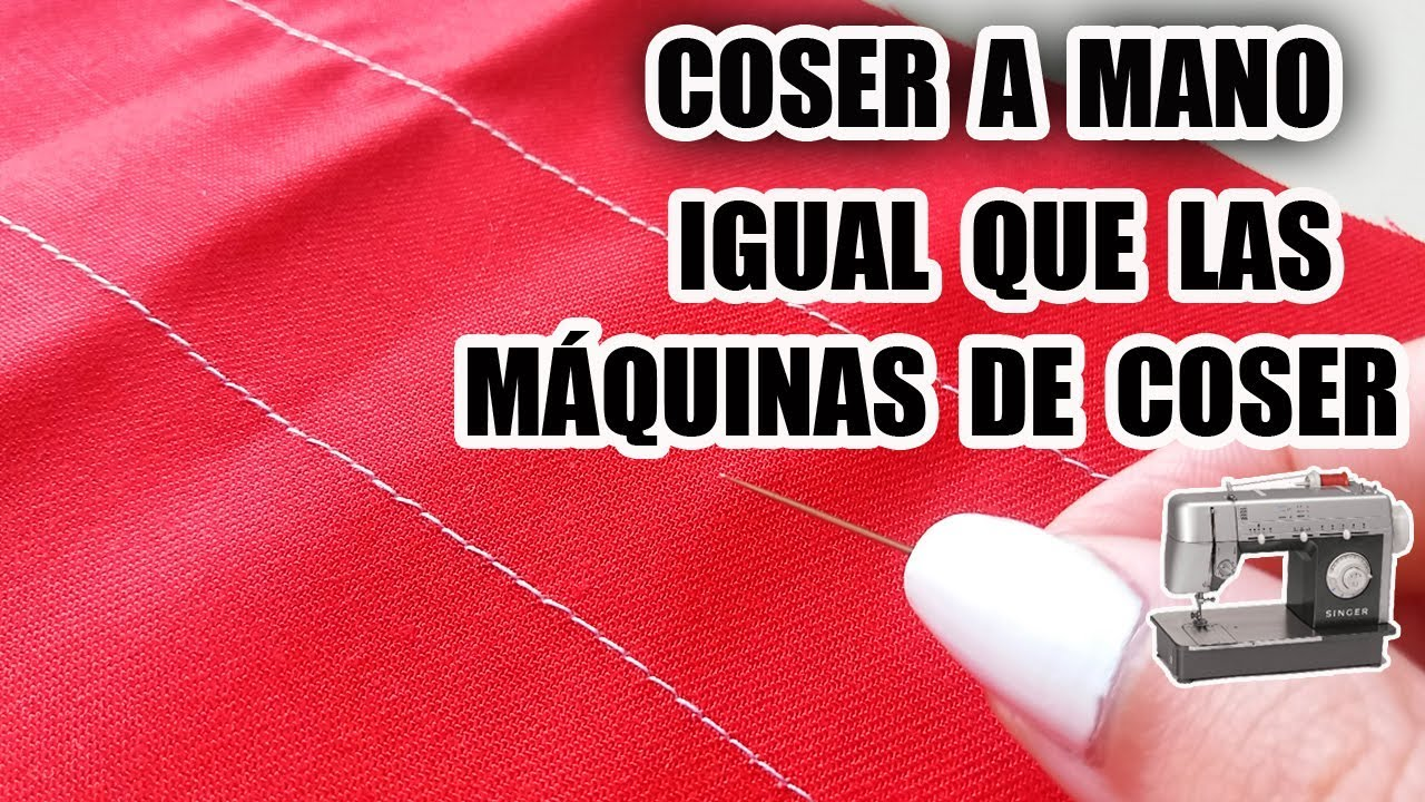 Cómo Coser A Mano Como Una Máquina De Coser How To Sew Without A Machine Marig Youtube