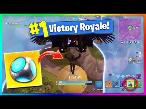 OMG TOP 1 INCROYABLE AVEC LA NOUVELLE GRENADE FORT DE POCHE - Fortnite Battle Royale Port-a-fort !