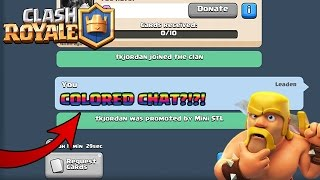 HOW TO CHAT IN COLORED CHAT IN CLASH ROYALE | NEW CLASH ROYALE COLORED CHAT TUTORIAL/HACK