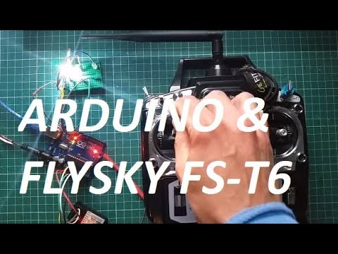 rc flysky fs t6 transmitter with fs r6b 2 4ghz receiver arduino uno digital ouput youtube. Black Bedroom Furniture Sets. Home Design Ideas