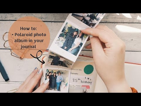 DIY Polaroid foto album in je journal   Felia Goovaerts