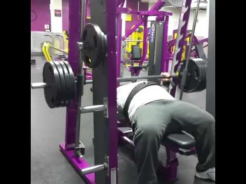 385pds bench press up in planet fitness bushwick youtube