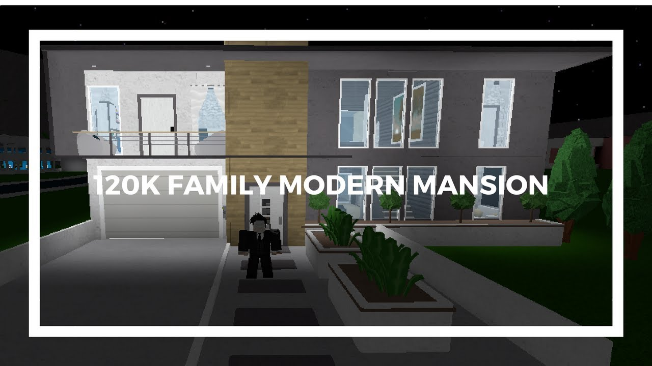 Roblox Welcome To Bloxburg 120k Modern Family Mansion Youtube