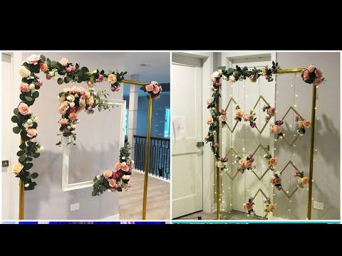 DIY- Dollar Tree Floating Frame Backdrop DIY- Wedding Photo Booth DIY-  Double Backdrop
