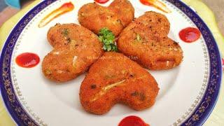 Crispy Veg Cheese Potato Cutlet Recipe Breakfast  Indian Snacks Recipe