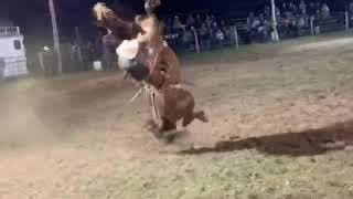 Brody Cress Saddle Bronc Wreck
