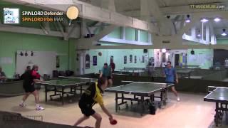 видео накладка для настольного тенниса длинные шипы KOKUTAKU 911