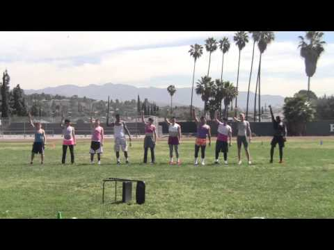 Ribet Academy PowderPuff PINK TEAM Cheer Performance