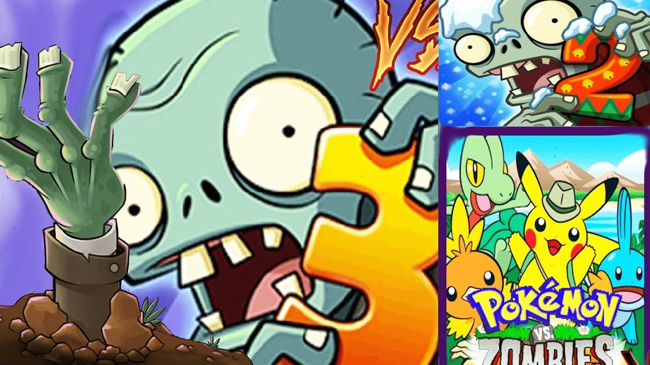 plants vs zombies 2 1 3 vs pokemons vs zombies youtube