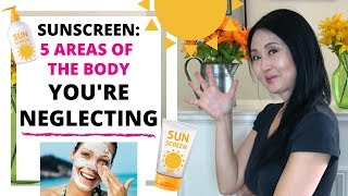 How to Apply Sunscreen on your Face and Body: 5 Areas of the Body You're Negelcting