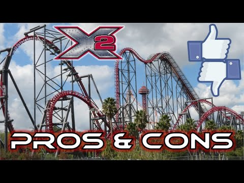 X2 Pros & Cons: Six Flags Magic Mountain's INSANE 4th Dimension Coaster